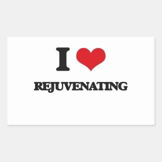 Eu amo Rejuvenating Adesivo Retângular