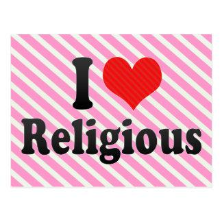 Eu amo religioso cartao postal