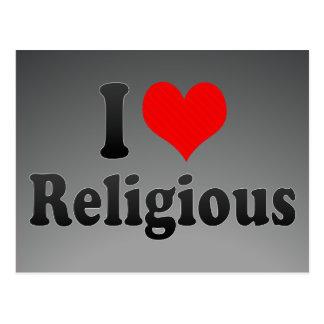 Eu amo religioso cartões postais