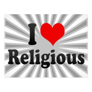 Eu amo religioso cartoes postais