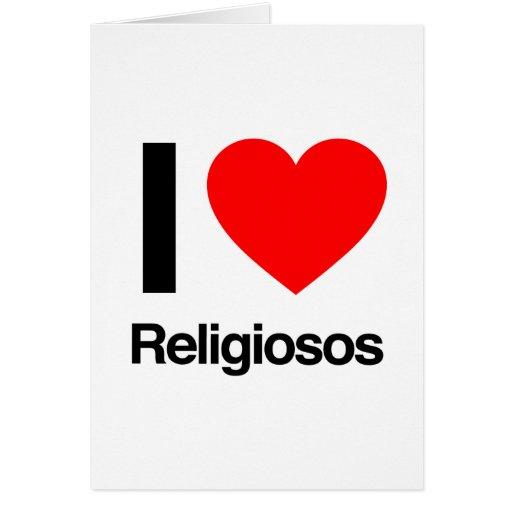 eu amo religiosos cartao