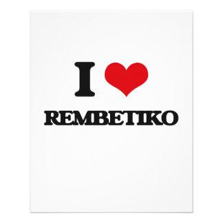 Eu amo REMBETIKO Panfleto Personalizados
