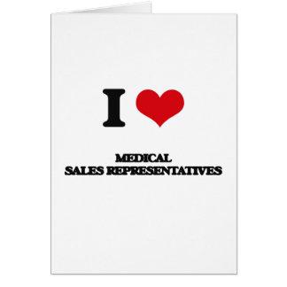 Eu amo representantes de vendas médicos