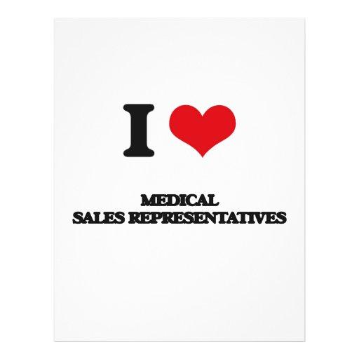 Eu amo representantes de vendas médicos panfleto coloridos
