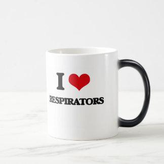 Eu amo respiradores caneca transmutação