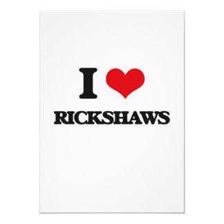Eu amo rickshaws convite