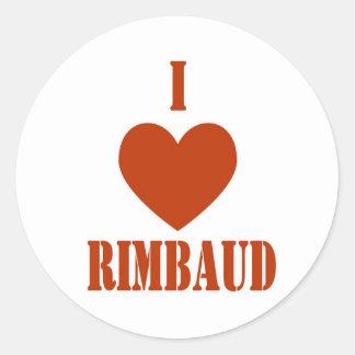 Eu amo Rimbaud Adesivo Em Formato Redondo