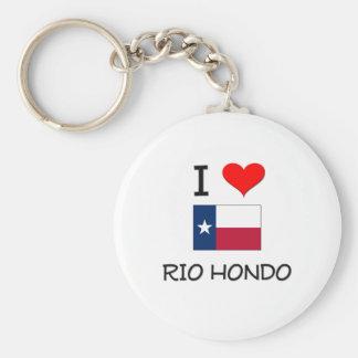 Eu amo Rio Hondo Texas Chaveiro