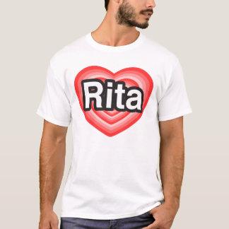 Eu amo Rita. Eu te amo Rita. Coração Camiseta