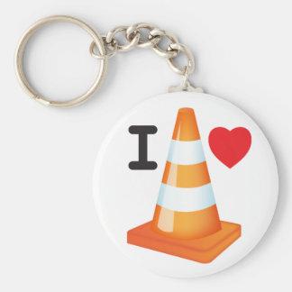 Eu amo Roadworks dos marcadores da estrada dos Chaveiro