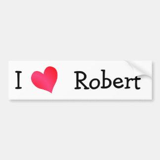 Eu amo Robert Adesivo