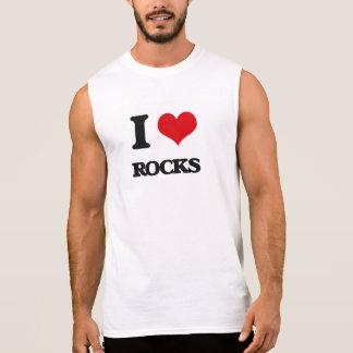 Eu amo rochas camisas sem mangas