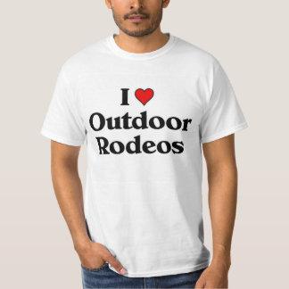 Eu amo rodeios exteriores t-shirts