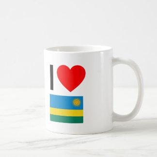 eu amo rwanda caneca de café