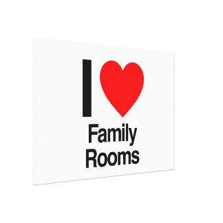eu amo salas de família impressão em tela