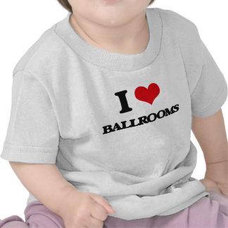 Eu amo salões de baile camisetas