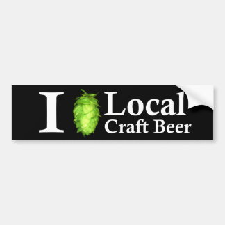 Eu amo (salto) a cerveja local do artesanato! adesivo para carro
