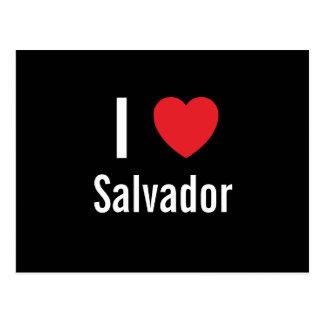 Eu amo Salvador Cartoes Postais
