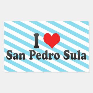 Eu amo San Pedro Sula, Honduras Adesivos Retangulares