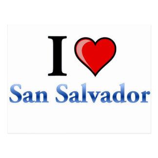Eu amo San Salvador Cartão Postal