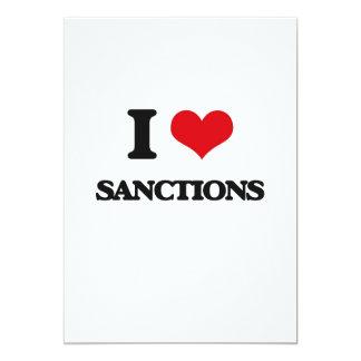 Eu amo sanções convite 12.7 x 17.78cm