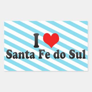 Eu amo Santa Fé faço Sul, Brasil Adesivo Retangular