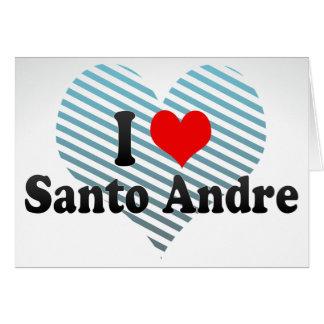 Eu amo Santo Andre, Brasil Cartão De Nota