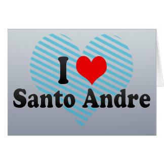 Eu amo Santo Andre, Brasil Cartão Comemorativo