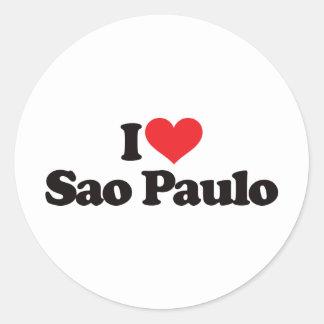 Eu amo Sao Paulo Adesivo
