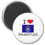 Eu amo Saugatuck Michigan Imã