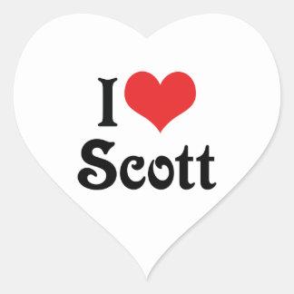 Eu amo Scott Adesivos De Corações