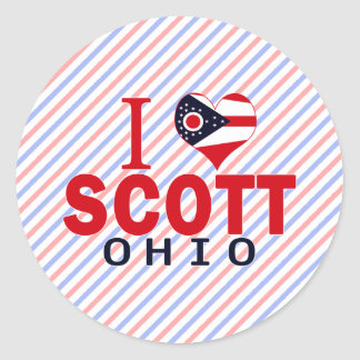 Eu amo Scott Ohio Adesivos Em Formato Redondos