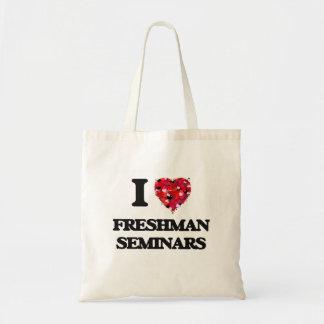 Eu amo seminários do caloiro sacola tote budget