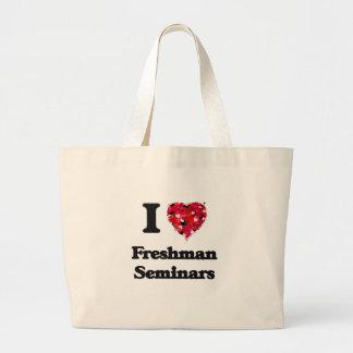 Eu amo seminários do caloiro sacola tote jumbo