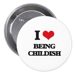 Eu amo ser criançola boton