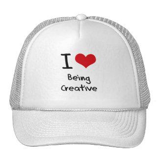 Eu amo ser criativo bonés