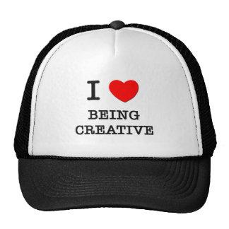 Eu amo ser criativo boné