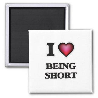 Eu amo ser curto ímã quadrado