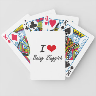 Eu amo ser design artístico lento jogo de carta