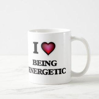 Eu amo ser energético caneca de café
