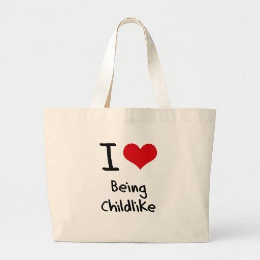Eu amo ser infantil bolsas
