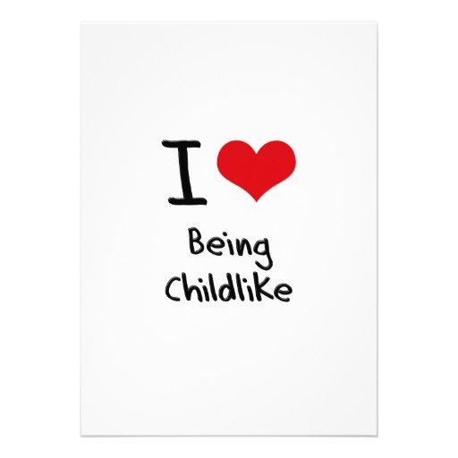 Eu amo ser infantil convite personalizados