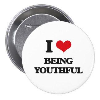 Eu amo ser jovem botons
