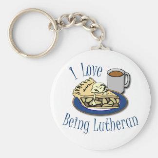 Eu amo ser Lutheran! Chaveiro