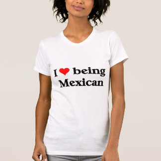 Eu amo ser mexicano camisetas
