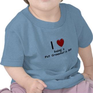 Eu amo ser t-shirt do miúdo de um Groomer do anima