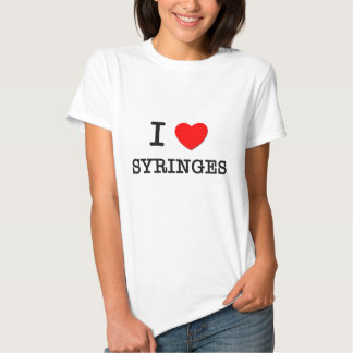 Eu amo seringas t-shirt