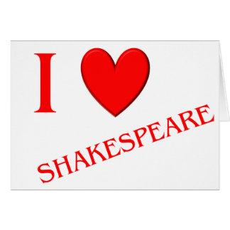 Eu amo Shakespeare Cartões