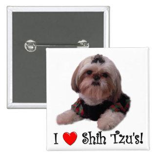 Eu amo Shih Tzu Boton