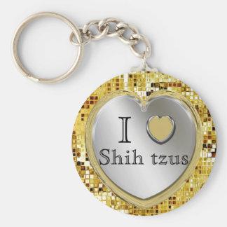 Eu amo Shih Tzus ou? Chaveiro do coração